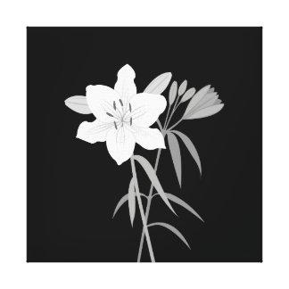 Toile Illustration de lis dans le monochrome