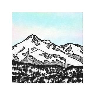 Toile Illustration de paysage de Shasta de bâti