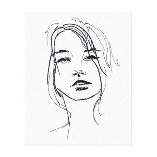 Toile Illustration de visage de mode