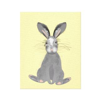 Toile Illustration grise mignonne de lièvres