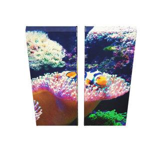 Toile Image de poissons de clown de vie marine