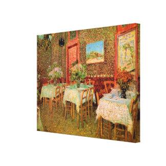 Toile Intérieur de Van Gogh de restaurant, beaux-arts