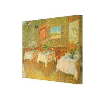 Toile Intérieur d'un restaurant par Vincent van Gogh