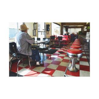 Toile Intérieur vintage de wagon-restaurant de Valentine