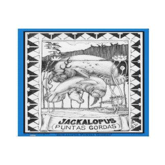 Toile JACKALOPE la FLORIDE - encadrée