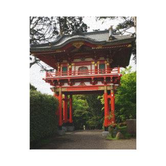 Toile japonaise de la porte #2 de temple de jardin