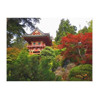 Toile japonaise de la porte #3 de temple de jardin