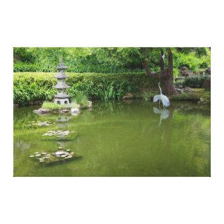 Toile japonaise de l'étang #2 de jardin de thé de