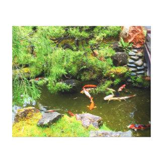Toile japonaise de l'étang #3 de Koi de jardin de