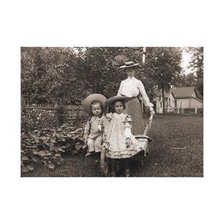 Toile Jardin 1890 de jardinage d'héritage de filles de