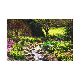 Toile Jardin botanique floral de ressort du sud