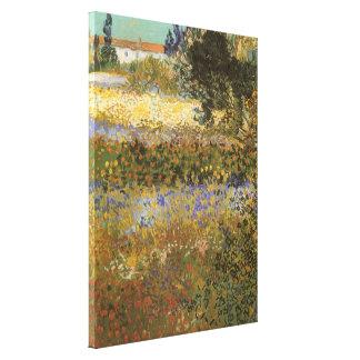 Toile Jardin fleurissant par Vincent van Gogh