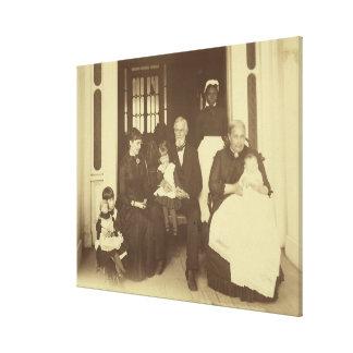 Toile Jefferson Davis et trois générations par E. Wilson