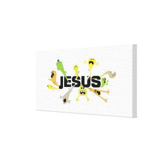 Toile Jésus effrayant (noir)