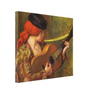 Toile Jeune femme espagnole avec une guitare par Pierre