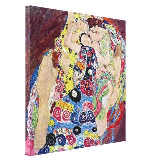 Toile Jeune fille (Vierge), Gustav Klimt, art vintage