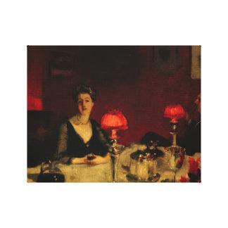 Toile John Singer Sargent - un Tableau de dîner la nuit