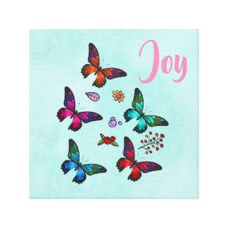 Toile Joie avec l'illustration assez petite de papillons