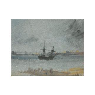 Toile Joseph Mallord William Turner - bateau échoué