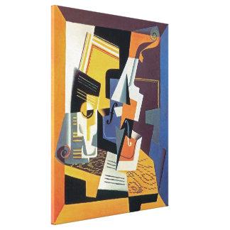 Toile Juan Gris - violon et verre - art abstrait