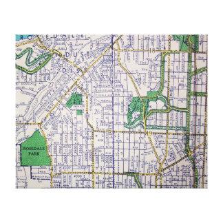 Toile KANSAS CITY, carte de cru de MOIS
