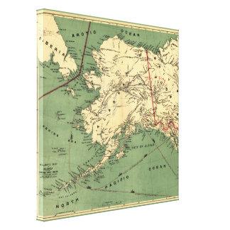 Toile La carte de Millroy de l'Alaska et de l'or de