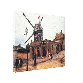 Toile La Galette, moulin à vent vintage de Van Gogh Le