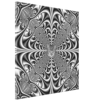 Toile La géométrie gothique dans la copie monochrome de