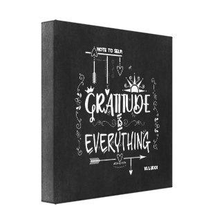 Toile La gratitude est tout note au tableau d'individu