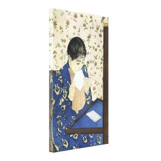Toile La lettre par Mary Cassatt, impressionisme vintage