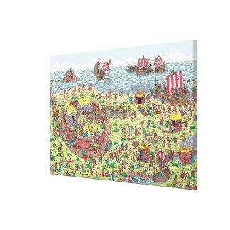 Toile Là où est Waldo | en tournée avec les Vikings