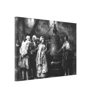 Toile La première note de Liberty Bell par Jean Léon