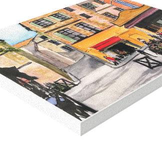 Toile La Provence, - aquarelle, copie enveloppée de