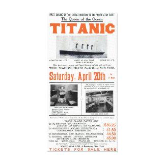 Toile La Reine titanique de l'océan - ligne blanche