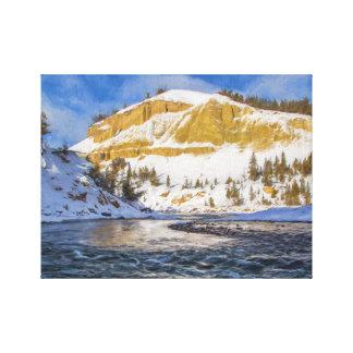 Toile La rivière Yellowstone