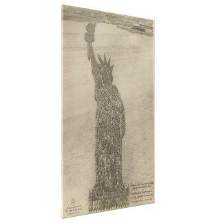 Toile La statue de la liberté humaine à la copie de