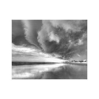 Toile La tempête sur la nouvelle plage de Smyrna (noire