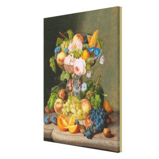 Toile La vie de Georg Seitz toujours avec les fleurs et