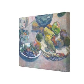 Toile La vie toujours avec des fruits par Paul Gauguin