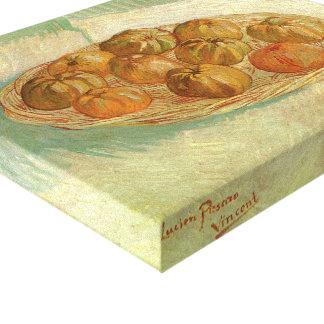 Toile La vie toujours, panier des pommes par Vincent van