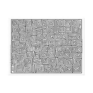 Toile Labyrinthe chinois du confucianisme I par Blaise