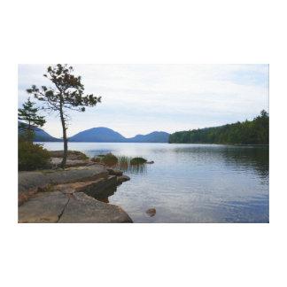 Toile Lac eagle au parc national d'Acadia