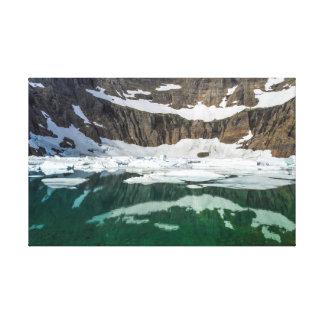 Toile Lac iceberg en parc national de glacier, Montana