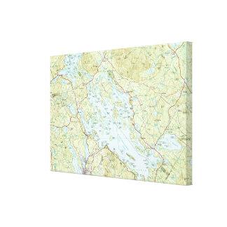 Toile Lac Winnipesaukee Map (1986)