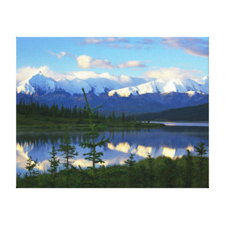 Toile Lac wonder - parc national de Denali