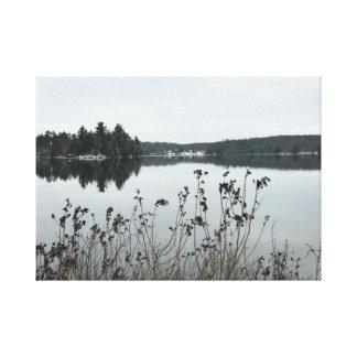 Toile Lacs fortune en automnes en cristal, MI