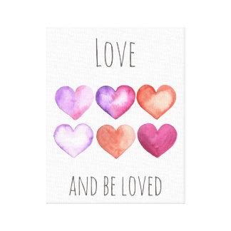 Toile L'amour et soit aimé - art d'impression de mur