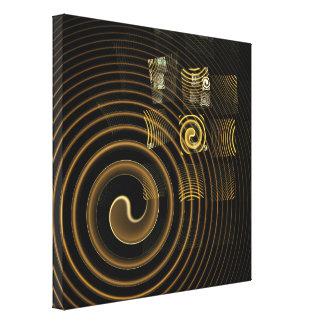 Toile L'art abstrait d'hypnose a enveloppé la copie de