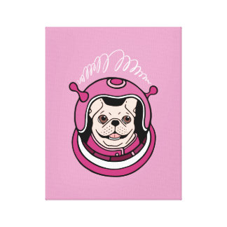 Toile L'aventure d'un astronaute mignon de Frenchie