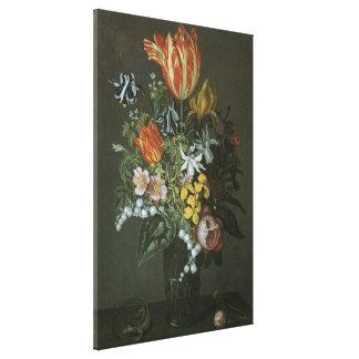 Toile Le baroque vintage, toujours fleurs florales de la